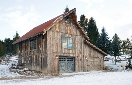 """A """"combination barn"""" serves as a garage, shed, and guest quarters."""