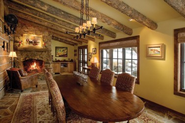 A formal dining room made for a smart addition to the main structure.