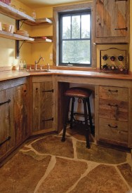 A recent remodel to the guest quarters included updating the guest suite's kitchenette