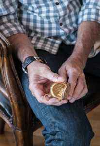 Nashan's great-grandfather's custom engraved pocket watch that inspired him to engrave watches.