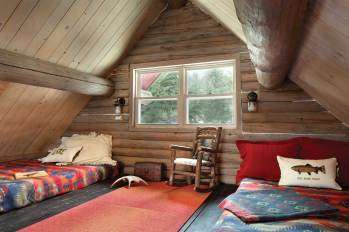 """An overhead loft area is designed to sleep """"as many kids as possible."""""""