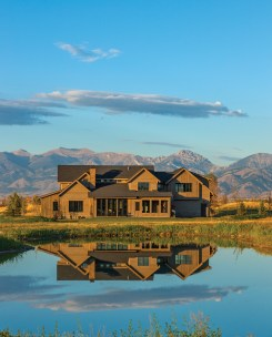 Brechbuhler Architects sited Anna and Brandon's home to take full advantage of the Bridger Mountain views to the west.
