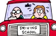 Primeira aula de condução!