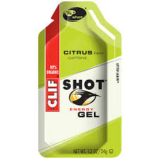 Clif Citrus + Caffeine, exactly what I needed before the race