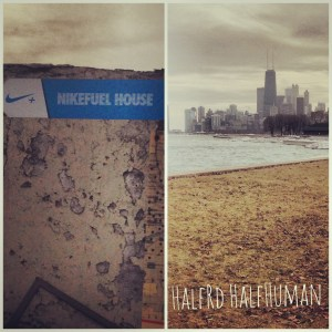 Did 4 miles on Chicago's lakefront trail!