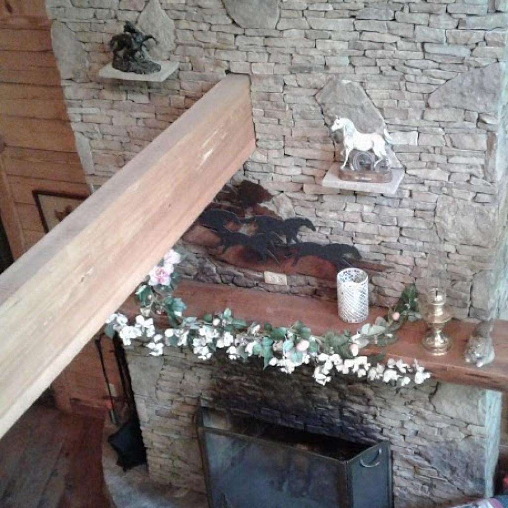 Loft view of fireplace