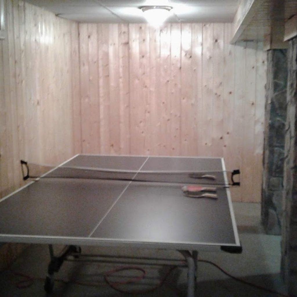 Downstairs game—Ping Pong