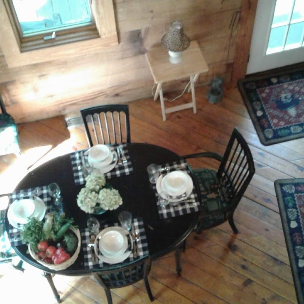 Loft view of Eating Table