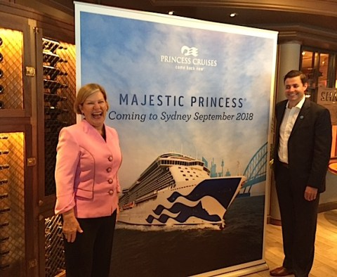 Carnival Cruise Lines chair Ann sherry and Princess Cruises Vice President Stuart Allison