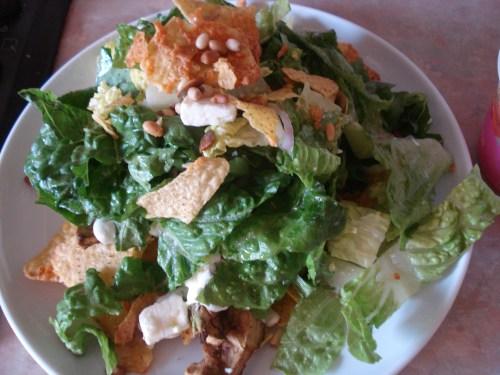 tortilla and avocado salad