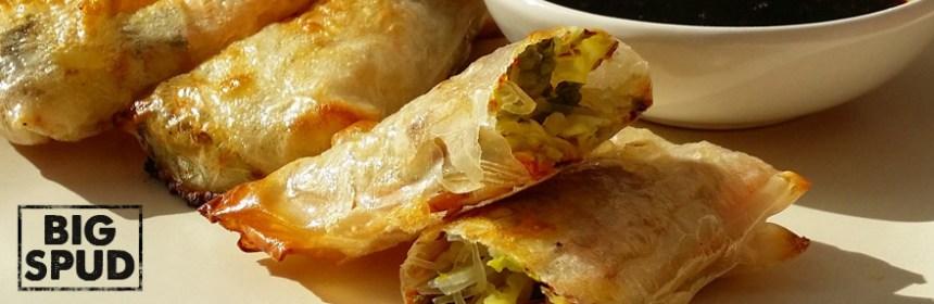 baked spring rolls