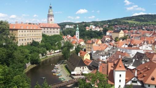 View over Český Krumlov from the castle