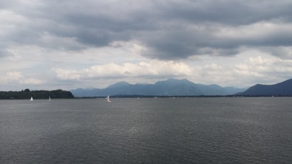 View of some mountains -towards Austria - from the boat