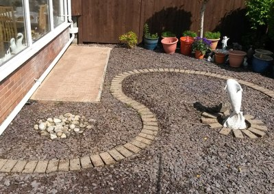 Pressure Washed Patio area & Garden cleaned