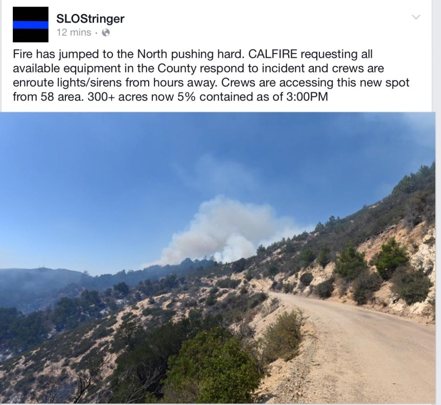 Cuesta Fire Update #2