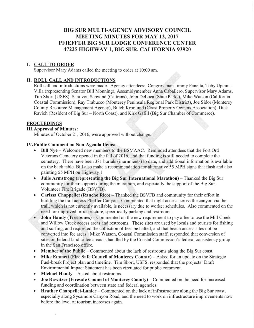 BSMAAC Minutes of 5/12/17
