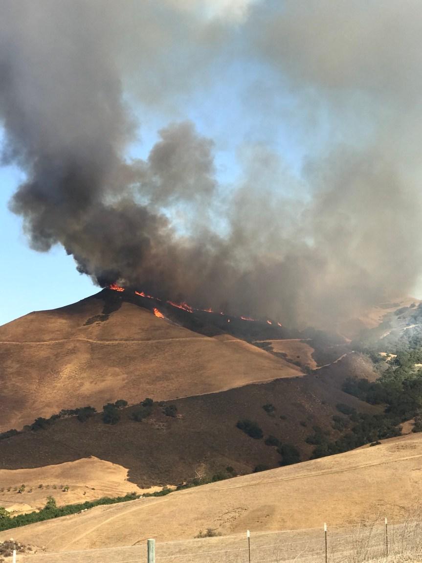 Wildfire near Las Ventana Development – SLO Co. CAMINO FIRE