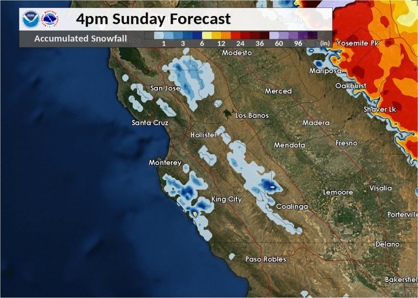 Snow Forecast today, Sunday 2/10/19