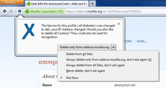 Surf the internet safely with Using Anonymox (3)