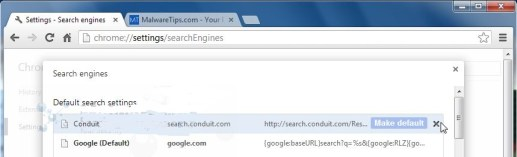Conduit-Search-Chrome-removal