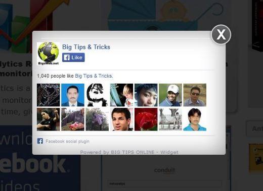 facebook like box widget
