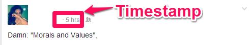 Facebook-Timestamp