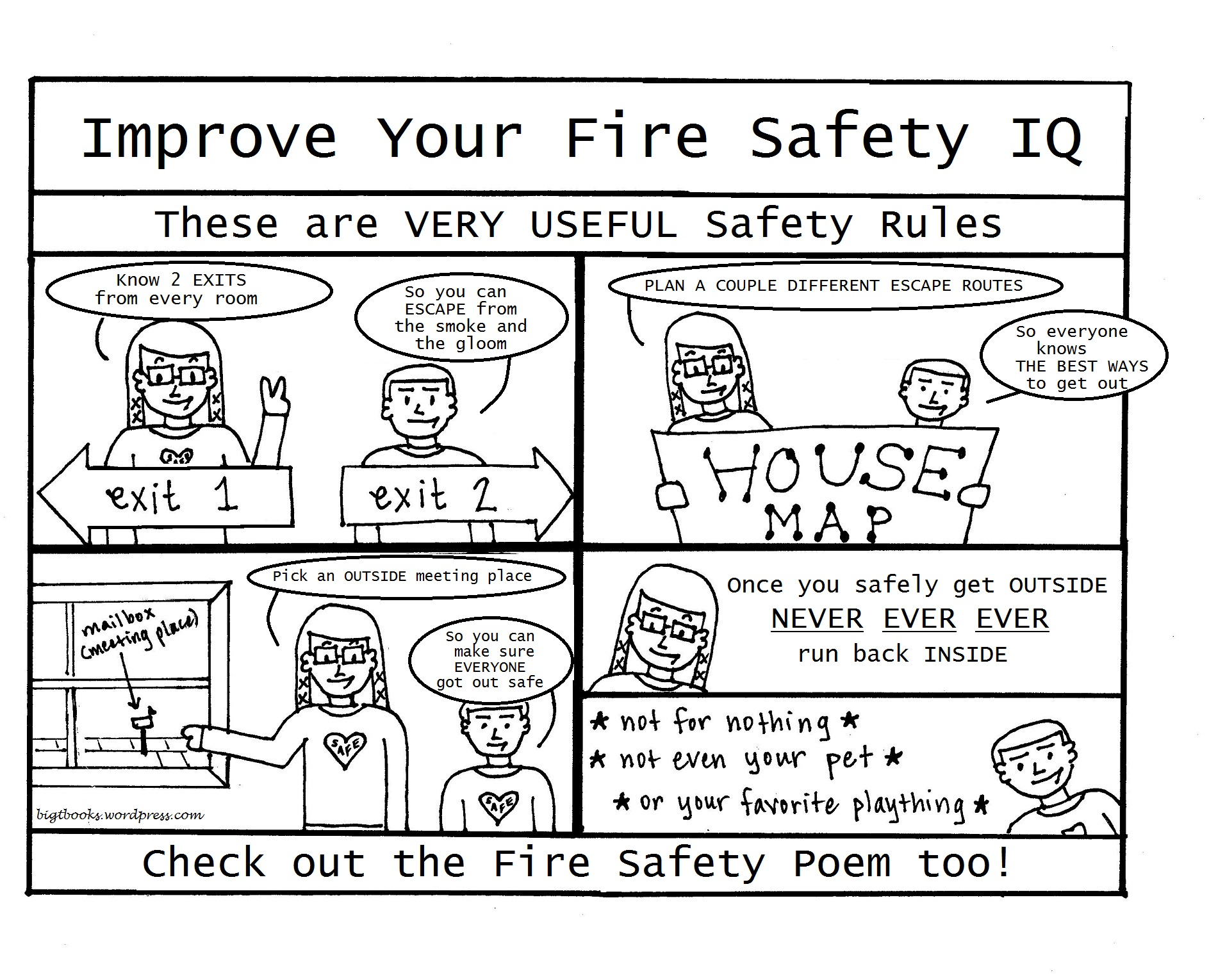 Fire Safety Color Pages
