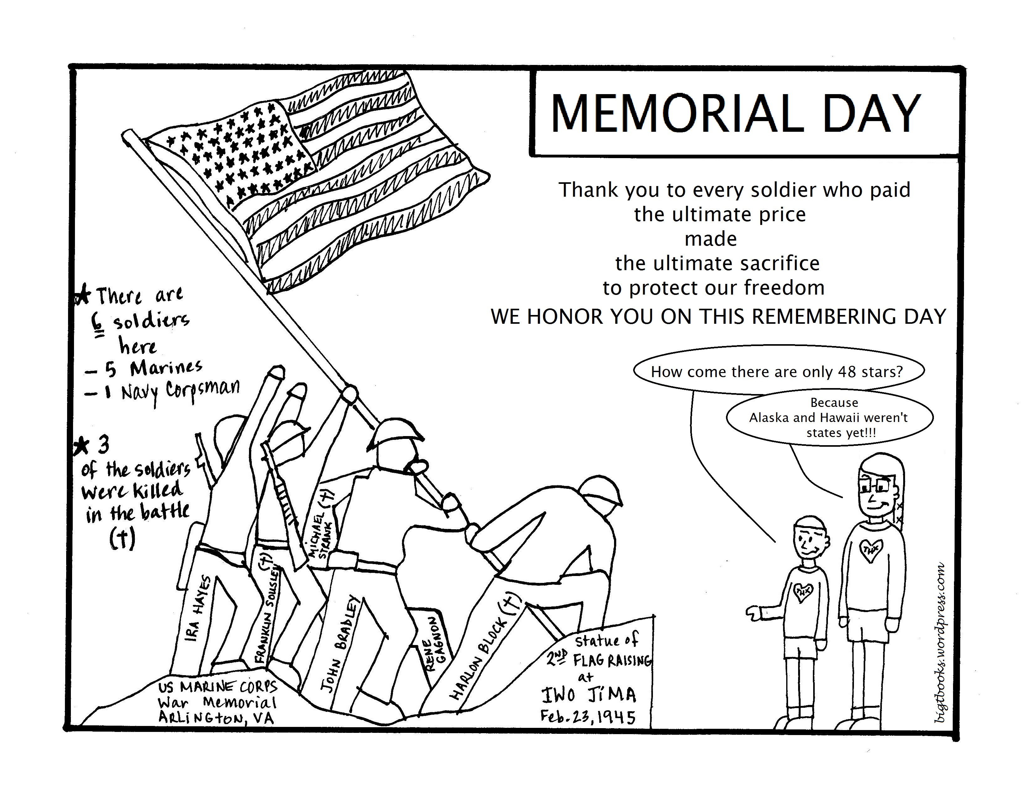 Memorial Day Thank You Coloring Pages Sketch Coloring Page