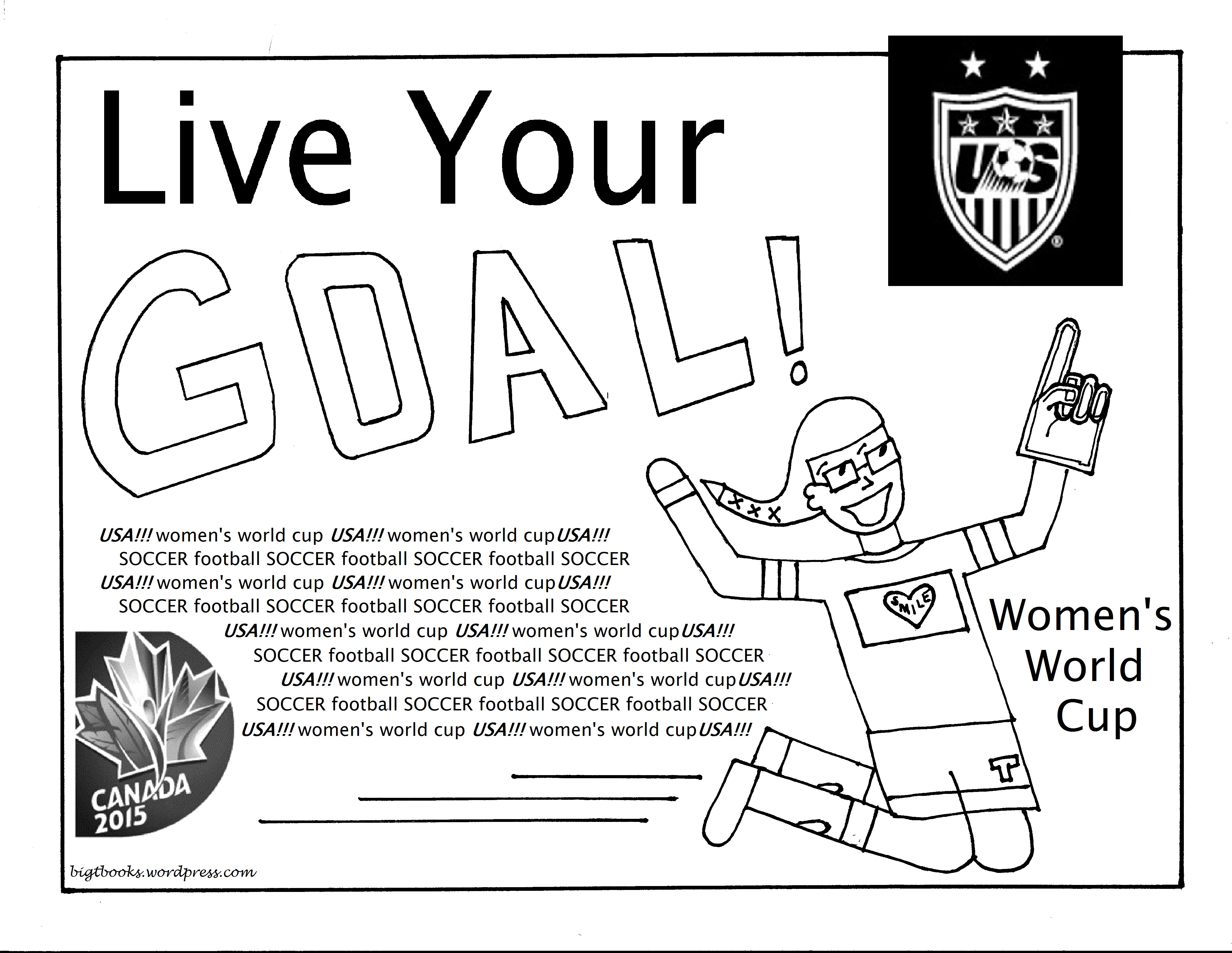 Women S World Cup Coloring Pages