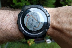 Map happy: the Garmin Fenix 5X in action