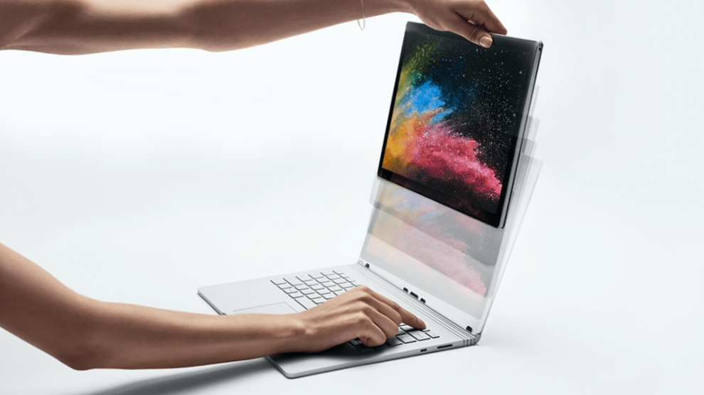 Surface Book 2 looks like this - detachable display
