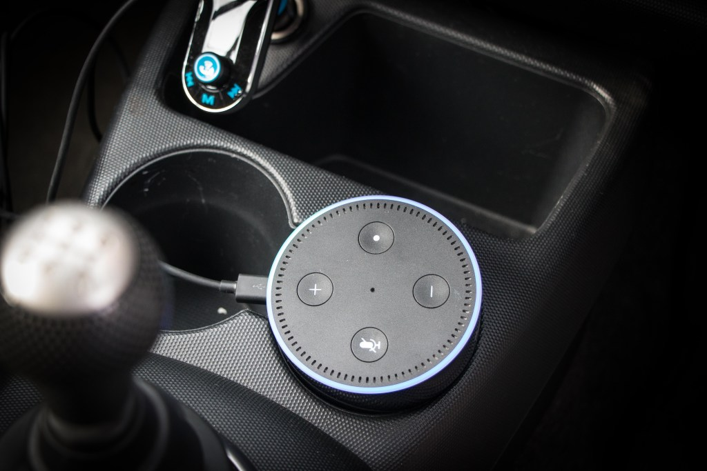 Amazon Echo Dot in a car