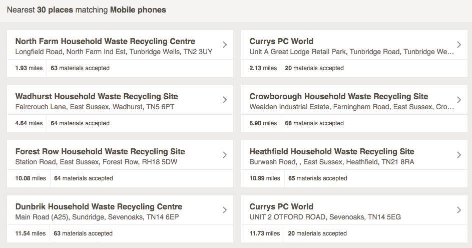 How can I recycle my smartphone in the UK?