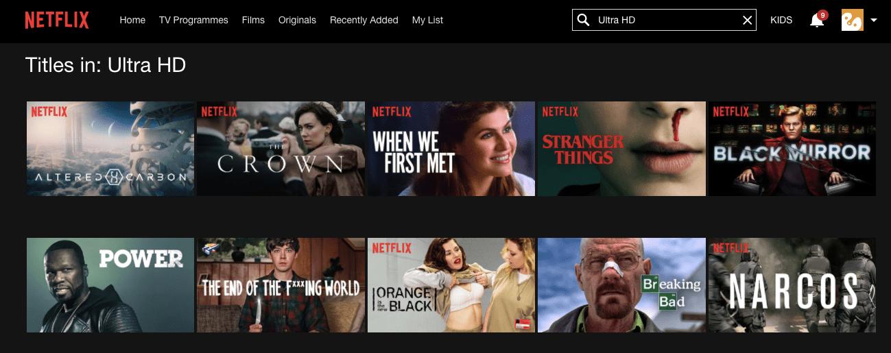 Netflix in 4K Ultra HD