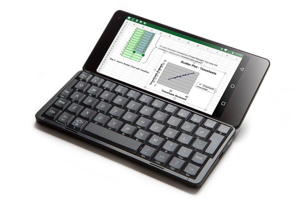 Gemini PDA review keyboard