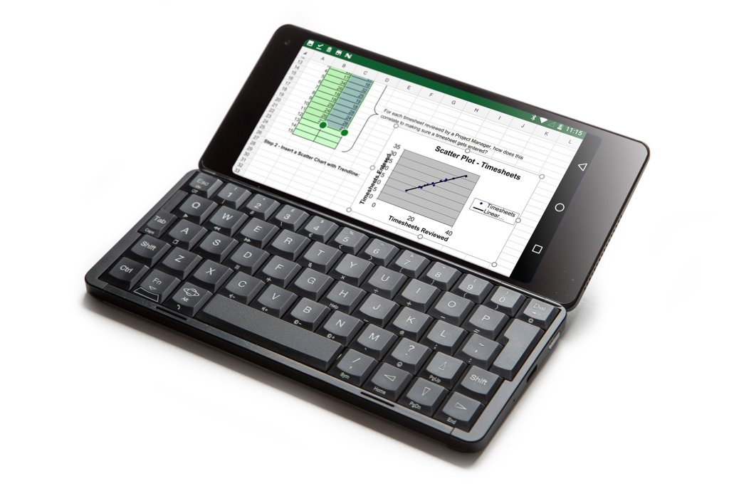 Gemini PDA review keyboard