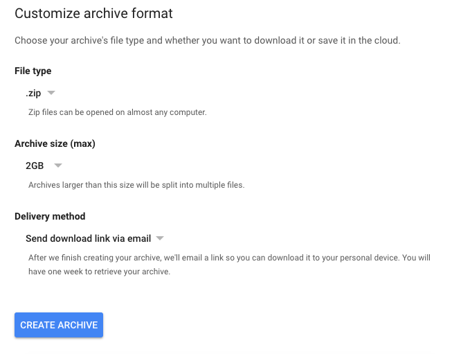 download data Google has on you