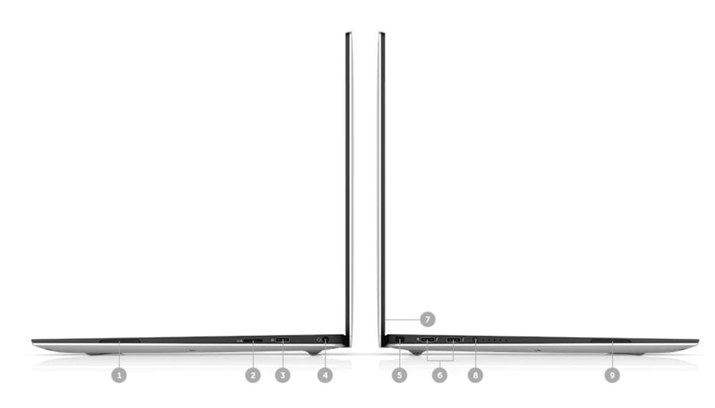new Dell XPS 13 9370 ports