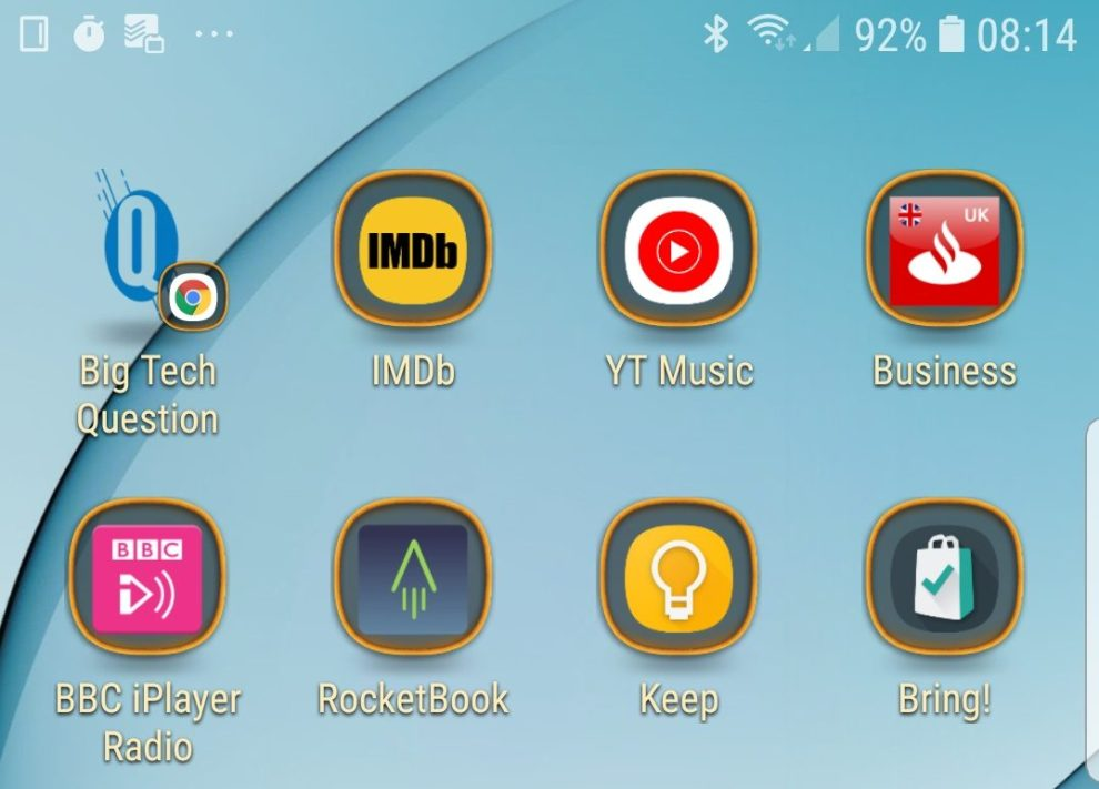 add website Android home screen