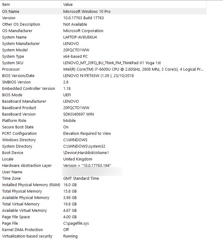 Windows System Information