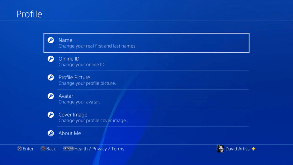 changing the id on your PS4