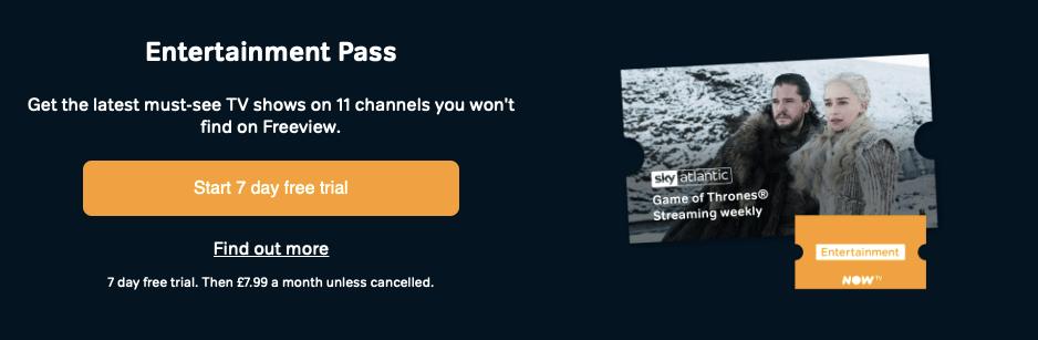 NOW TV Entertainment Pass