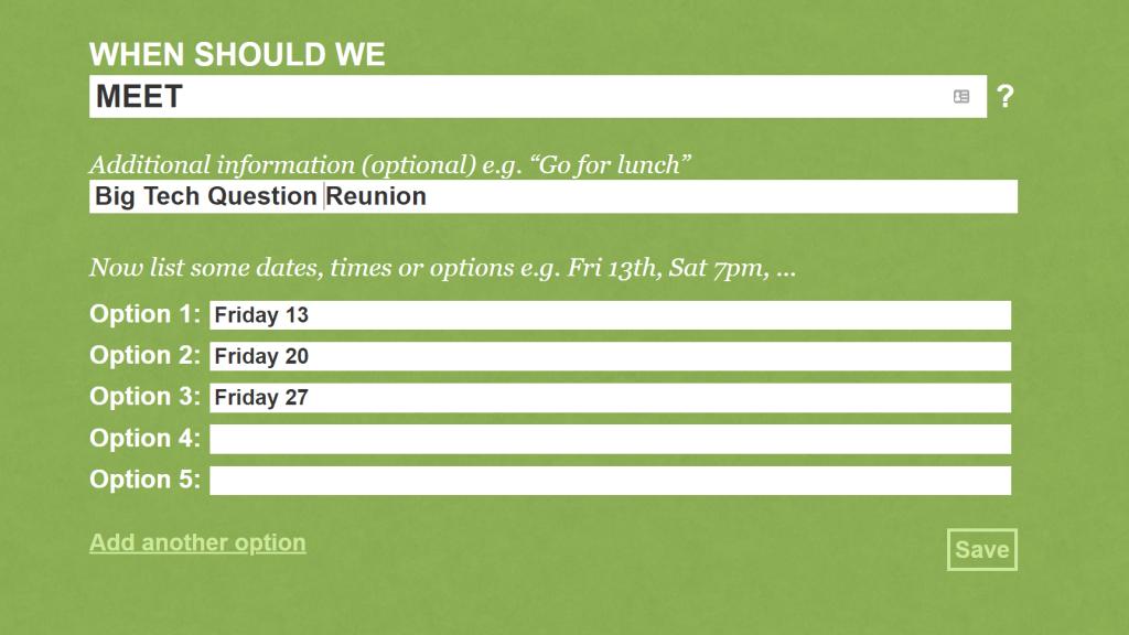 When should we meet