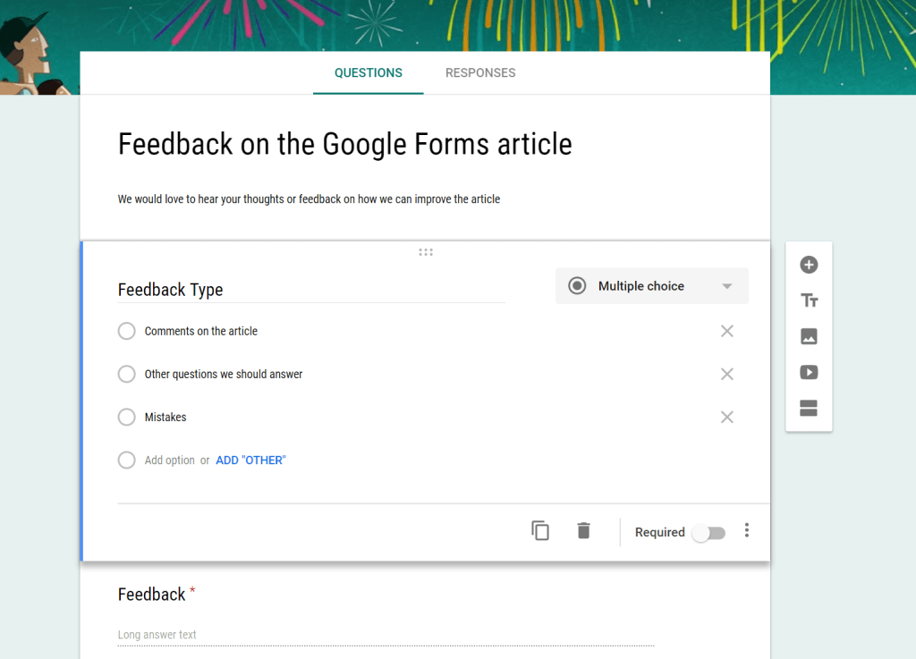 editing a Google Form