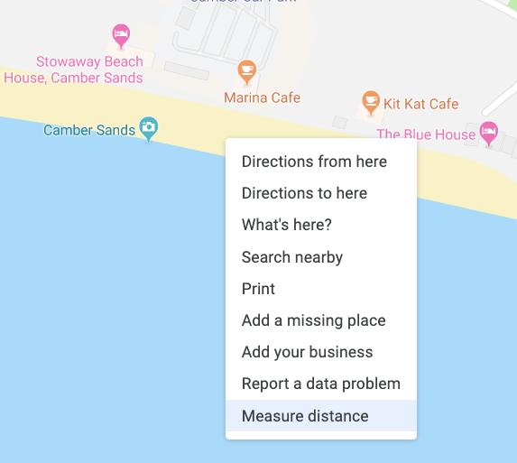 Measure distance desktop