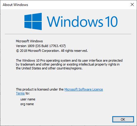Check version of Windows