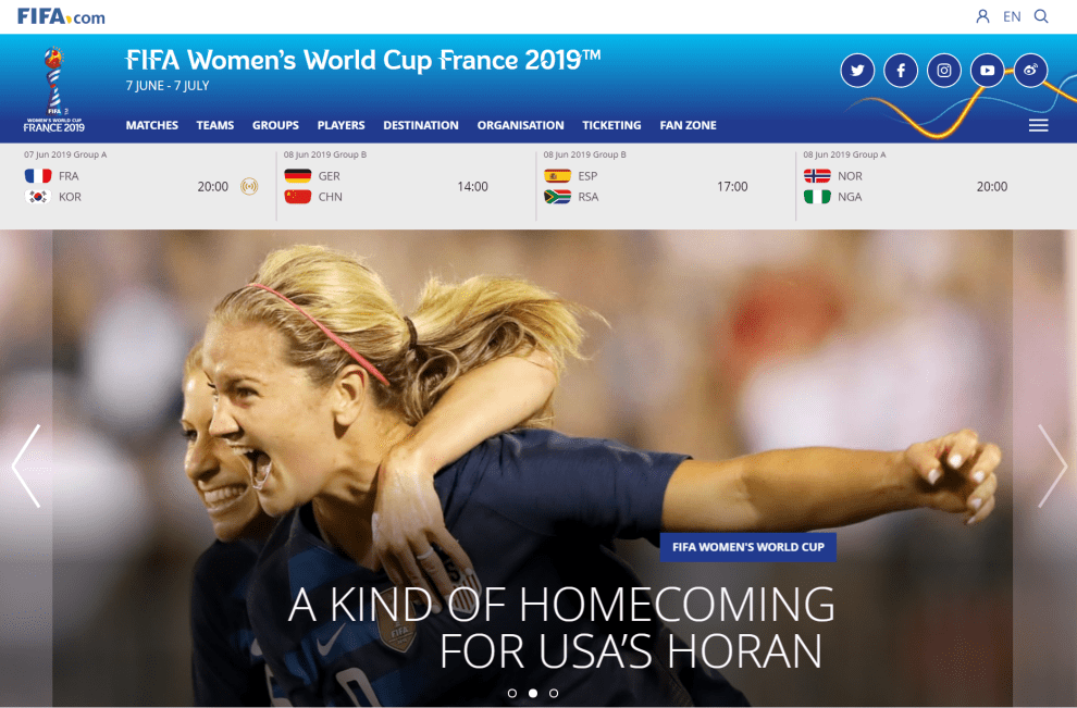 Watch women's world cup uk
