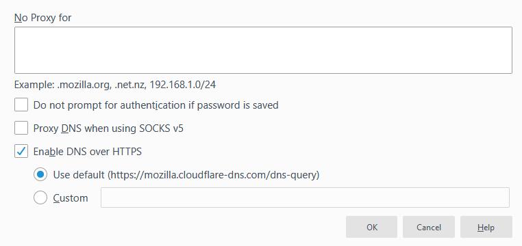 Fiefox DNS-over-HTTPS