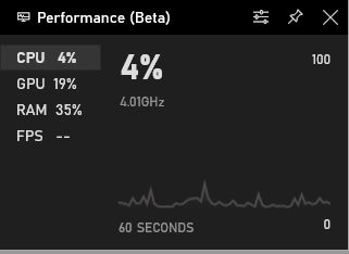Xbox One performance counter