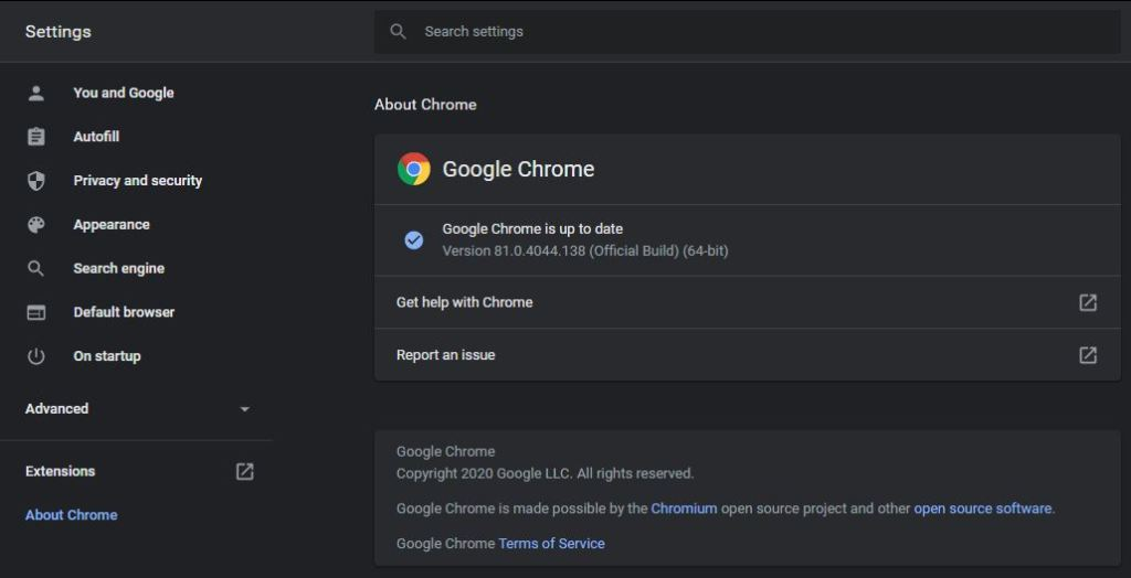 which version of Google Chrome do I have
